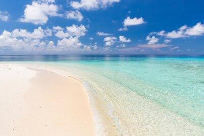 Sticker Belle plage de l'océan sur les Maldives