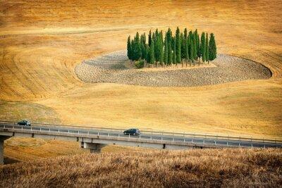 Sticker Belle vue sur les paysages d'été en Toscane