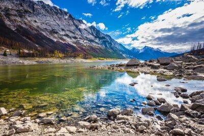 Sticker Bénéficiez le lac Medicine à l'automne