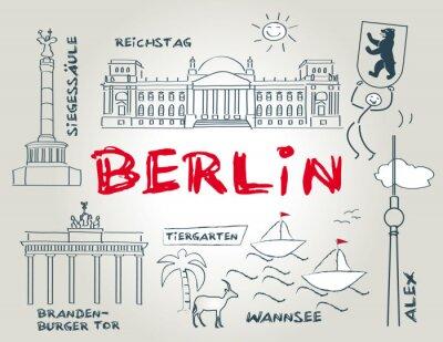 Sticker Berlin, emblème, illustration