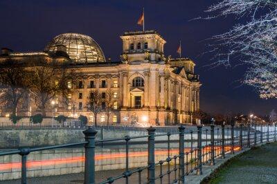Sticker Berlin Reichstag la nuit