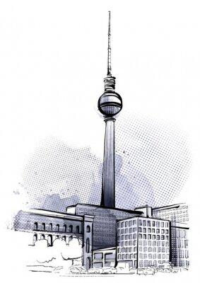 Sticker Berlin Sketch