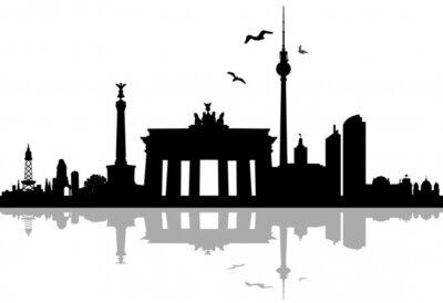 Sticker Berlin skyline silhouette