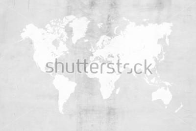 Sticker Béton plâtre ciment style polissage loft mur ou sol texture texture surface abstraite utiliser pour fond avec la carte du monde