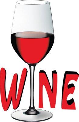 Sticker Bicchiere di vino rosso
