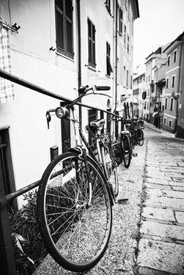 Sticker Bicyclette nel vicolo