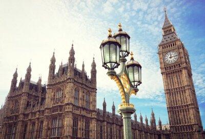 Sticker Big Ben et les maisons du parlement à Londres