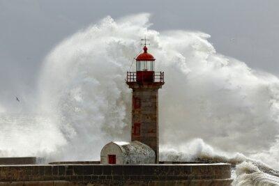 Sticker Big stormy waves