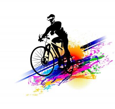 Sticker Biker sport. Illustration vectorielle