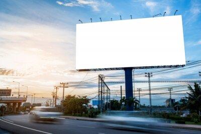 Sticker billboard blank for outdoor advertising poster or blank billboard for advertisement.