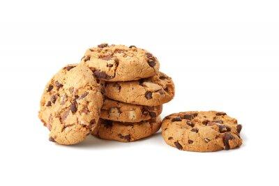 Sticker biscuits au chocolat sur fond blanc
