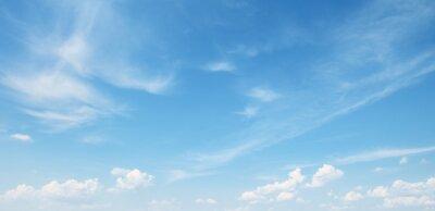 Sticker Blanc, nuage, bleu, ciel
