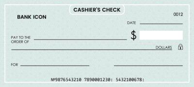 Sticker blank bank check. checkbook vector template. illustration
