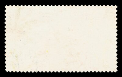 Sticker Blank postage stamp - Isolated on Black