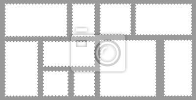 Sticker Blank set postage stamps collection. Vector illustration