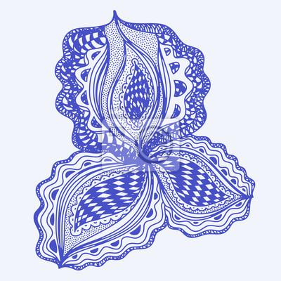 Bleu élément floral abstrait pour le design décoratif.