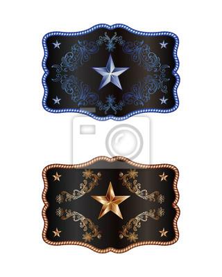 Bleu et bronze boucle