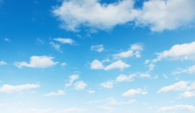 Sticker blue sky with white cloud landscape background