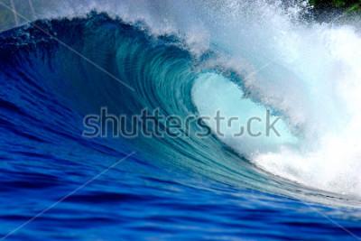 Sticker Blue surfing wave