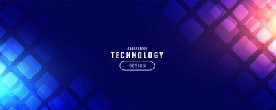 Sticker blue technology digital banner design