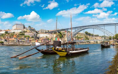 Boats with wine barrelsr in Porto