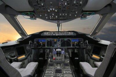 Sticker Boing 787 Dreamliner, Cockpit