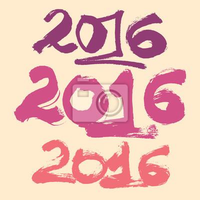 Bonne année 2016 ensemble de fond de célébration.