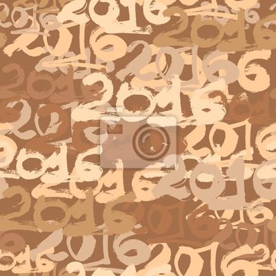 Bonne année 2016 papier peint célébration sans soudure.
