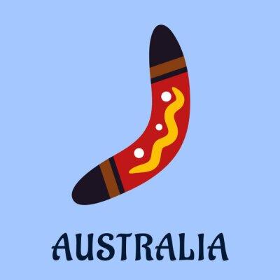 Sticker Boomerang coloré isolé nationale australienne