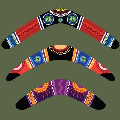 Sticker Boomerangs avec la conception autochtone