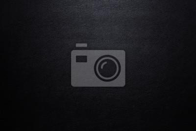 Sticker Bouchent Surface de luxe en cuir noir pour l'arrière-plan et l'espace pour votre texte.