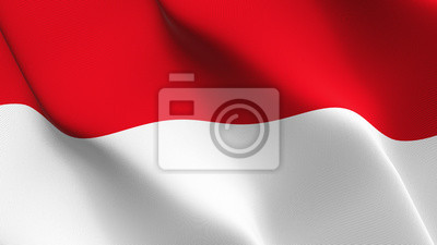 Drapeau De L Indonésie boucle agitant le drapeau de lindonésie. drapeau indonésien stickers