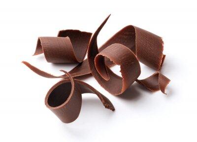 Sticker Boucles de chocolat noir
