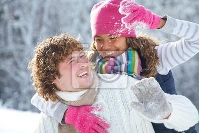 Boules de neige Couple de jeu