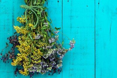 Sticker Bouquet, séché, fleurs, pendre, exotique, rustique ...
