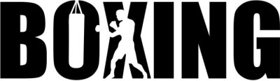 Boxe avec la silhouette de boxeur