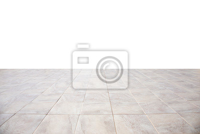 Sticker bright floor tiles going into perspective