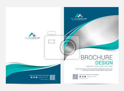 Sticker Brochure modèle flyer design fond de vecteur