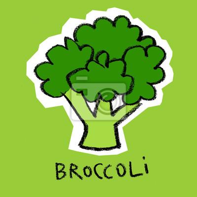 Brocoli, vert, fond