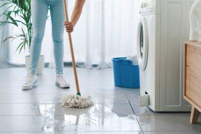 Sticker Broken washing machine leaking on the floor
