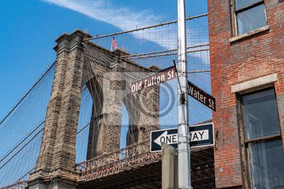 Brooklyn bridge on sunny day