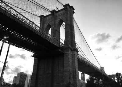 Brooklyn, pont, noir, blanc, Style