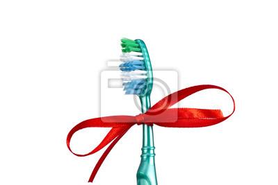 Brosse à dents de fête avec un arc