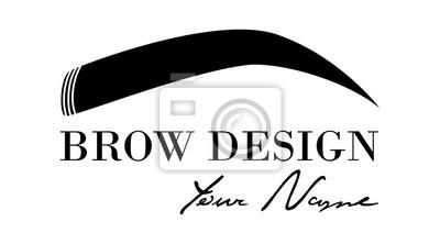 Sticker Brow Design Logo Modle De Carte Visite Vectoriel Pour Barre Front