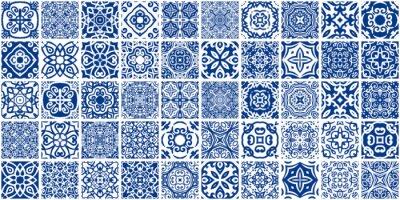 Sticker Bundle de tuiles bleues