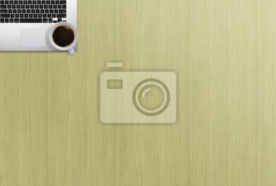 Bureau bureau haut vue imitation image ordinateur portable