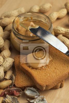 Sticker Burro di arachidi avec gros biscottat