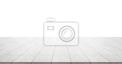 Sticker Business concept - vide dessus de plancher de marbre avec ciel panoramique vue de la montagne sous le lever du soleil et matin bleu ciel lumineux pour l'affichage ou montage produit