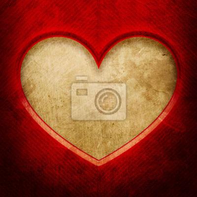 Cadre en forme de coeur de papier rouge