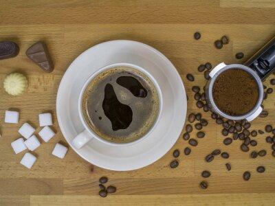 Café et haricots frais